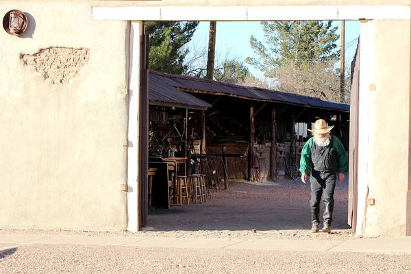 Photograph - Old Cowboy At The Ok Corral by Colleen Cornelius