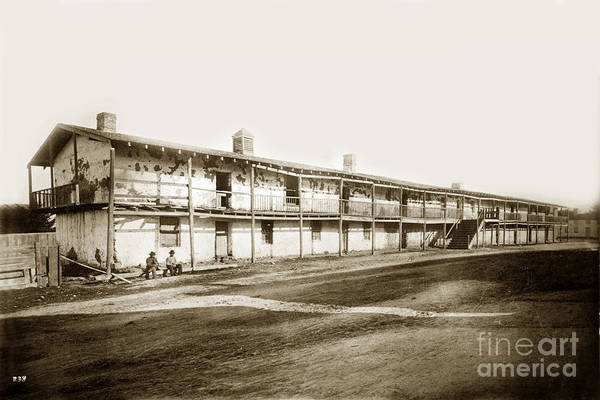 Photograph - Old Cuartel. Mexican Soldiers Barracks Monterey Circa 1885 by California Views Archives Mr Pat Hathaway Archives