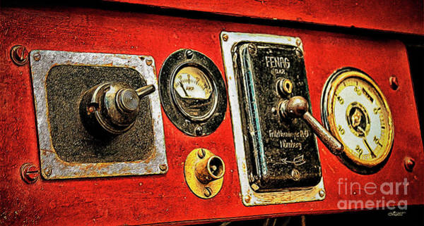 Photograph - Old Dashboard by Jutta Maria Pusl