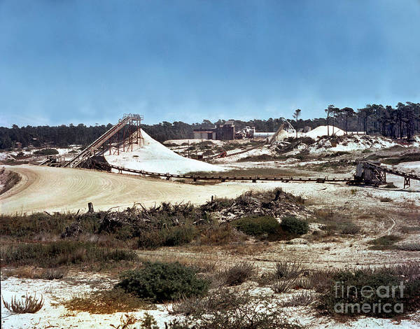 Photograph - Old Del Monte Sand Plant At Moss Beach Asilomar And Pebble Beach Circa 1960 by California Views Archives Mr Pat Hathaway Archives