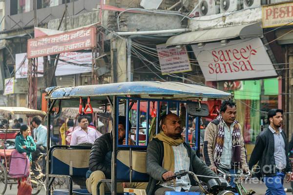 Photograph - Old Delhi From A Rickshaw 03 by Werner Padarin