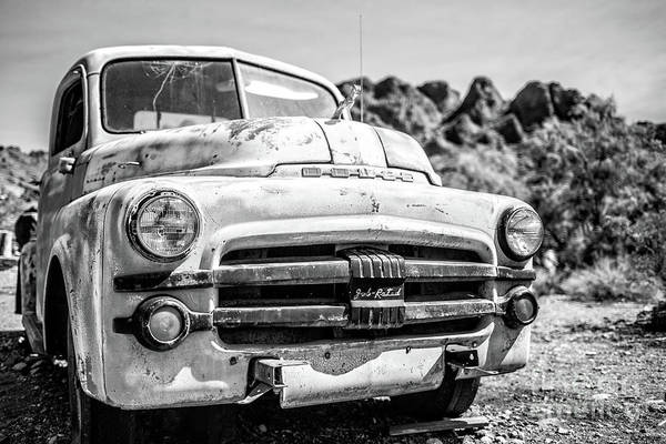 Wall Art - Photograph - Old Dodge Truck In The Desert by Edward Fielding
