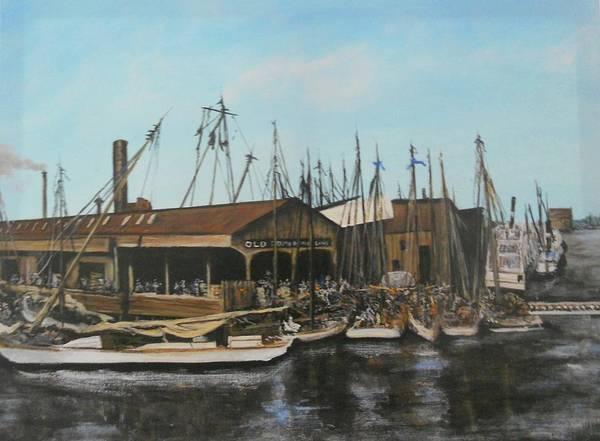 Norfolk Va Wall Art - Painting - Old Dominion Steamship Lines Norfolk Va 1910 by Joseph Simone