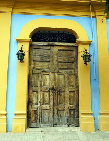 Photograph - Old Door Of El Fuerte Mexico by Kurt Van Wagner