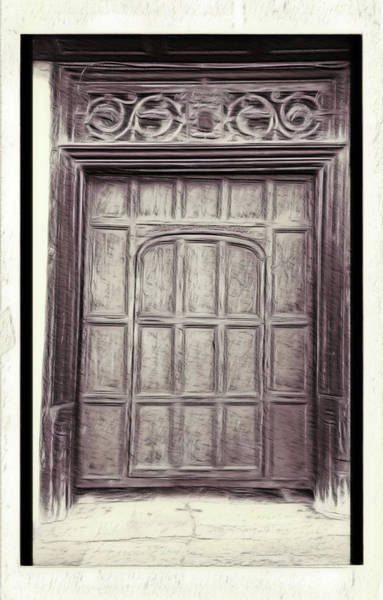 Digital Effect Photograph - Old Door Painting by Tom Gowanlock