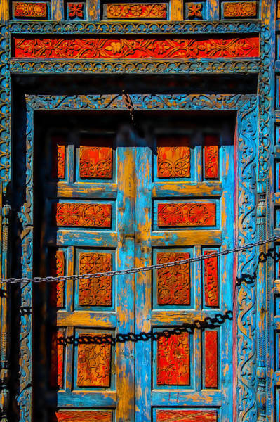 Wall Art - Photograph - Old Door With Chain by Garry Gay