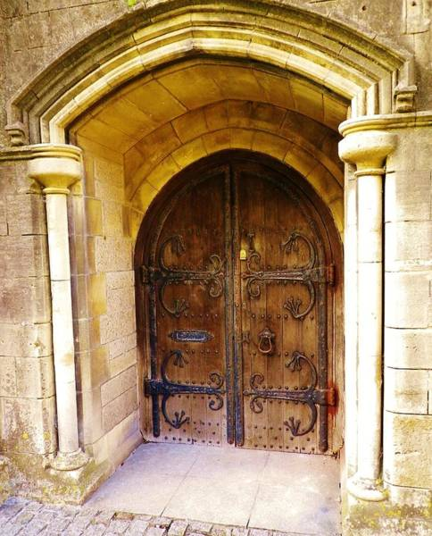 Dress Fitting Photograph - Old Doorway To Former Truro Cathedral School by Richard Brookes