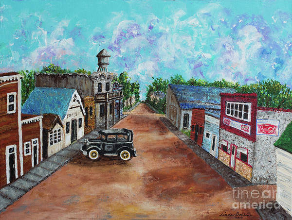 North Dakota Painting - Old Downtown by Linda Donlin