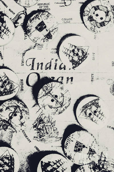 Map Photograph - Old East India Trading Routes by Jorgo Photography - Wall Art Gallery