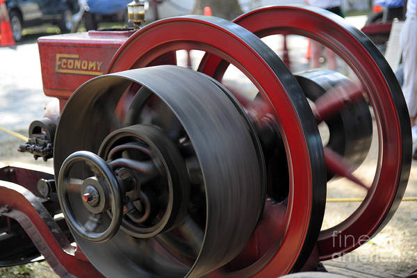 Wall Art - Photograph - Old Economy Gas Engine On Display At A County Fair by William Kuta
