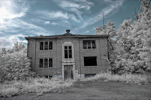 Photograph - Old Edmonton High School Ir 2 by Amber Flowers