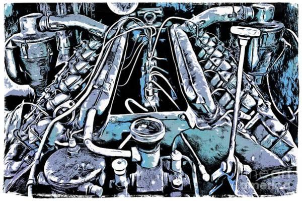 Wall Art - Digital Art - Old Engine Of Locomotive by Michal Boubin