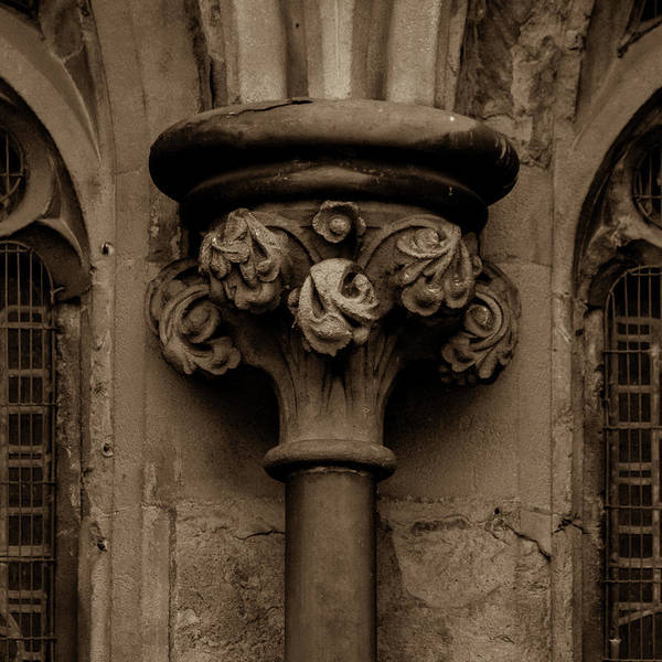 Photograph - Old English Gothic Column Capital B by Jacek Wojnarowski