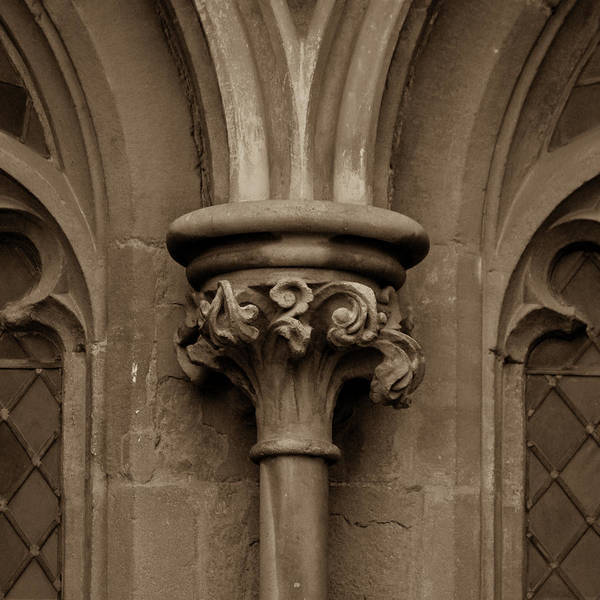 Photograph - Old English Gothic Column Capital D by Jacek Wojnarowski