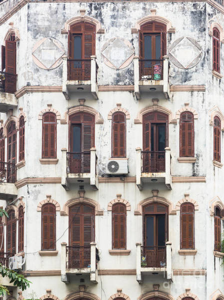 Photograph - Old Facade In Hanoi by Didier Marti
