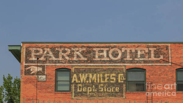 Neon Photograph - Old Faded Advertisement On An Old Brick Building by Edward Fielding