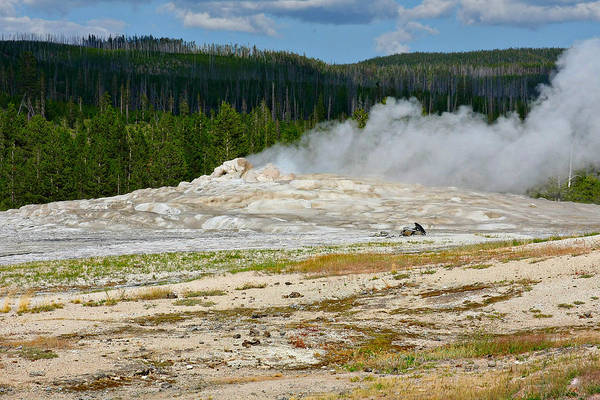 Photograph - Old Faithful - An American Icon In Yellowstone National Park Wy by Christine Till