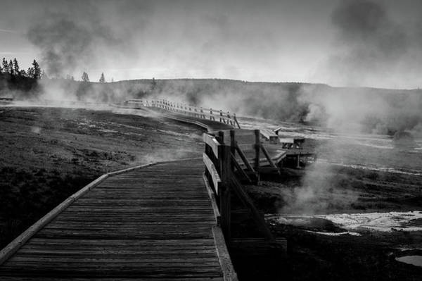 Photograph - Old Faithful Boardwalk by Stephen Holst