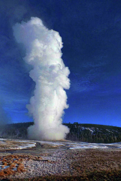 Photograph - Old Faithful In Winter by C Sitton