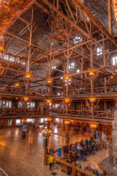 Montana Photograph - Old Faithful Lodge by Steve Gadomski