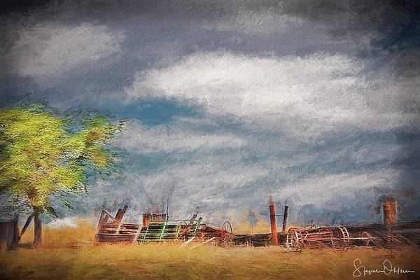 Wall Art - Mixed Media - Old Farm Equipment - Antelope Island - Signed Limited Edition by Steve Ohlsen