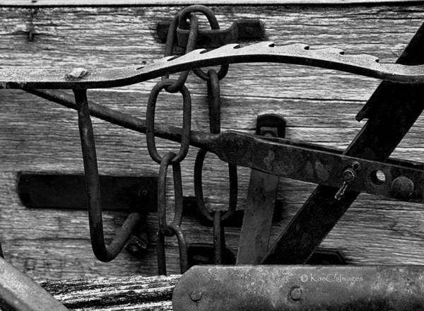 Wall Art - Photograph - Old Farm Equipment Bw by Kae Cheatham