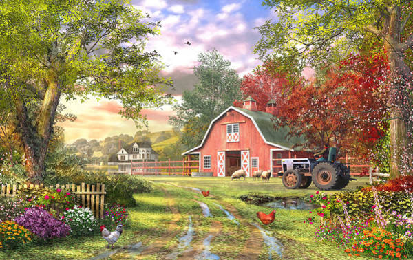 Traditional Home Digital Art - Old Farm House Variant 1 by MGL Meiklejohn Graphics Licensing