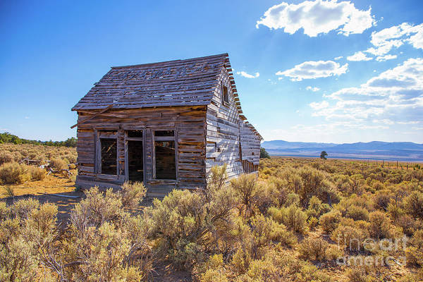 Ghost Town Photograph - Old Farm House Widtsoe Utah Ghost Town by Edward Fielding