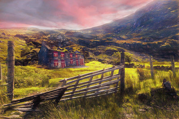 Photograph - Old Farm In The Irish Autumn Countryside by Debra and Dave Vanderlaan