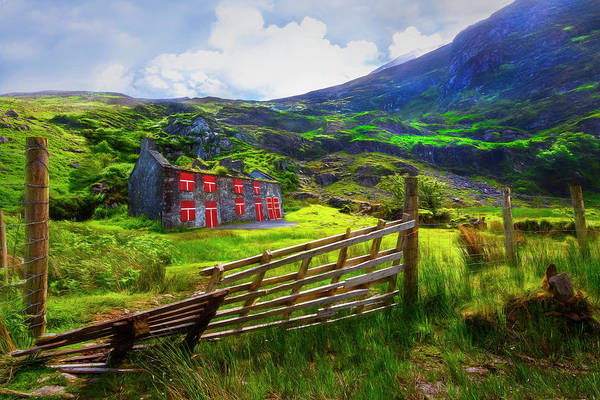 Photograph - Old Farm In The Irish Countryside Painting by Debra and Dave Vanderlaan
