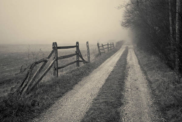 Photograph - Old Farm Road Toned by David Gordon