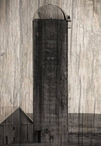 Wall Art - Photograph - Old Farm Silo On Wood Panel by Dan Sproul