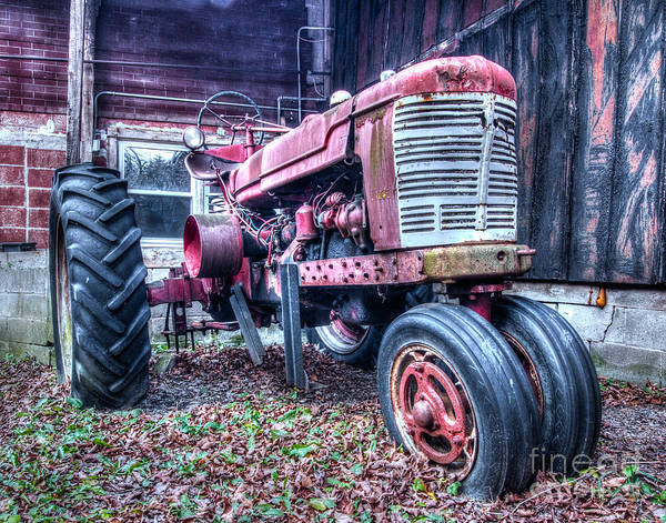 Photograph - Old Farm Tractor by Rod Best