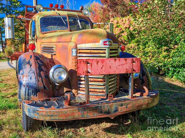High Country Wall Art - Photograph - Old Farm Truck Hdr by Edward Fielding