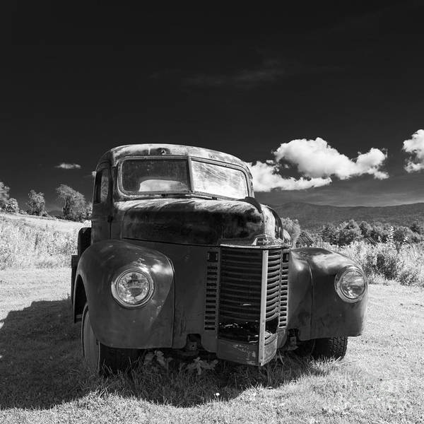 Photograph - Old Farm Truck Infrared by Edward Fielding