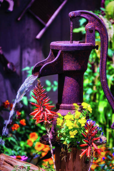 Wall Art - Photograph - Old Farm Water Pump by Garry Gay