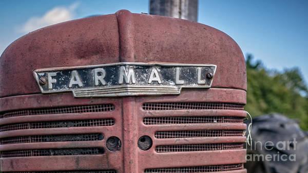 Best Selling Photograph - Old Farmall Tractor Grill And Nameplate by Edward Fielding