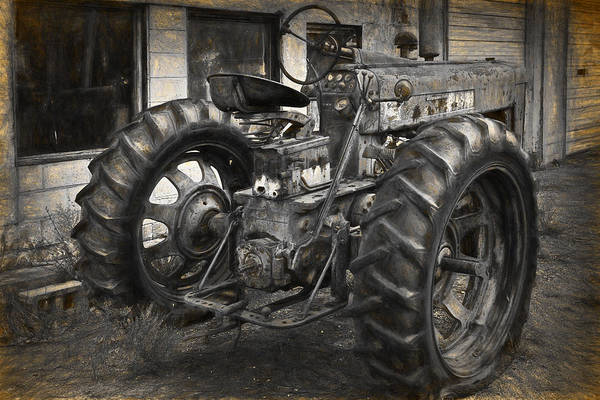 Photograph - Old Farmall Tractor by Randall Nyhof