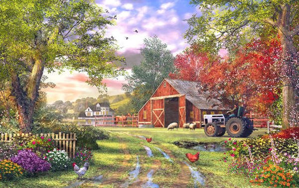Traditional Home Digital Art - Old Farmhouse by MGL Meiklejohn Graphics Licensing