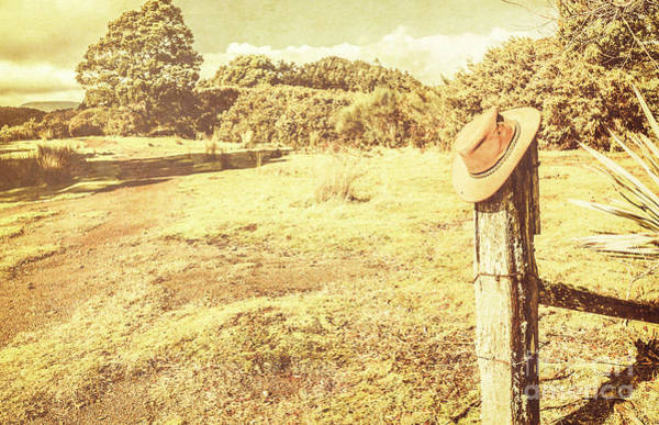 Fence Post Photograph - Old Farming Landscape by Jorgo Photography - Wall Art Gallery