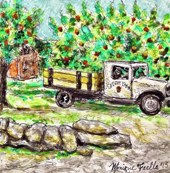 Old Farming Truck Art Print