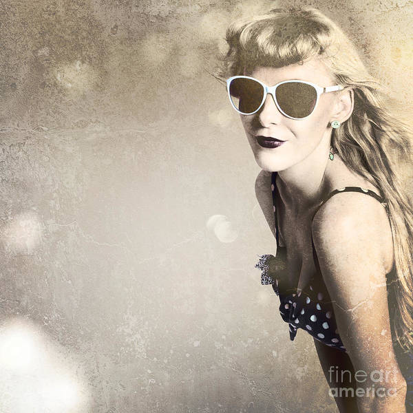 Attractive Digital Art - Old Fashion Rockabilly Girl by Jorgo Photography - Wall Art Gallery