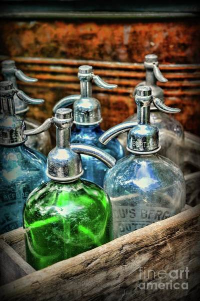 Wall Art - Photograph - Old Fashion Seltzer Bottles  by Paul Ward