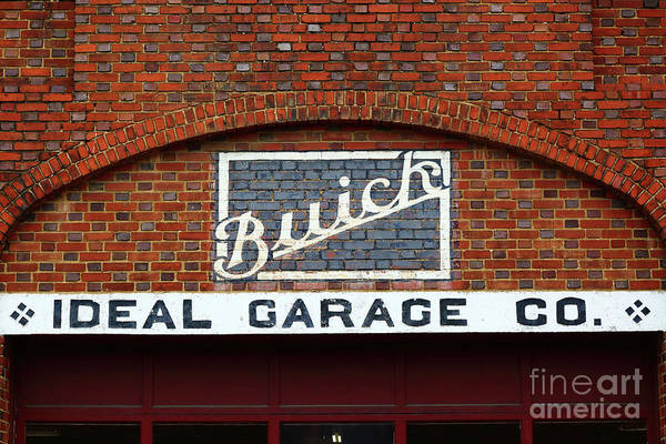 Photograph - Old Fashioned Buick Garage Sign by James Brunker