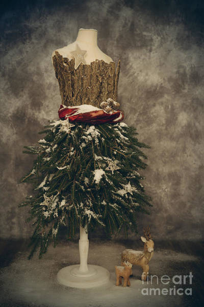 Dress Form Photograph - Old Fashioned Christmas by Amanda Elwell