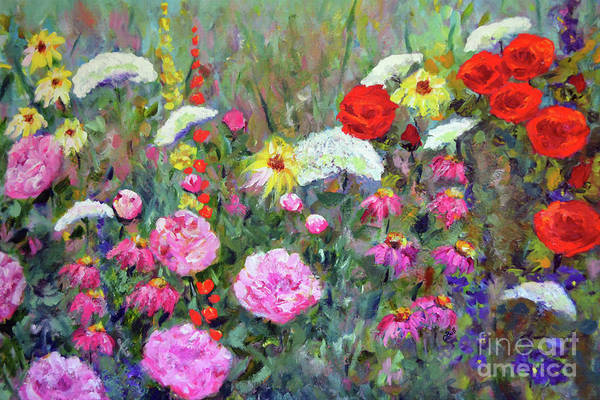 Painting - Old Fashioned Garden by Claire Bull