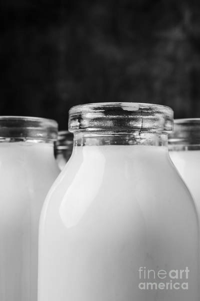 Pixel Photograph - Old Fashioned Milk Bottles 4 by Edward Fielding
