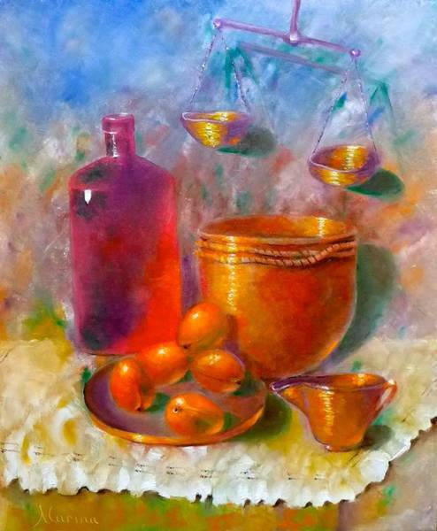 Doily Painting - Old Fashioned Recipe by Marina Wirtz
