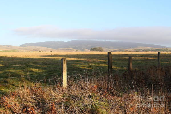 Photograph - Old Fence And Landscape Along Sir Francis Drake Boulevard At Point Reyes California . 7d9965 by Wingsdomain Art and Photography