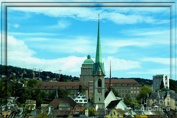 Zuerich Wall Art - Photograph - Old Fire-watch-tower Zuerich Swiss by Pit Hermann